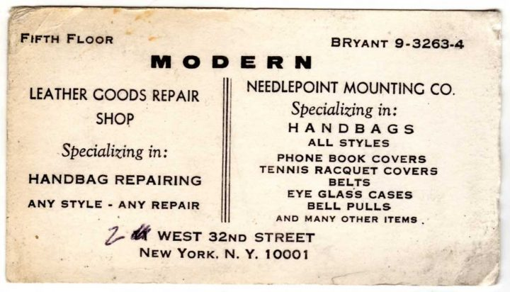 Old business card